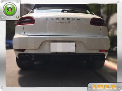 D18030920 Porsche 保時捷 Macan 碳纖維 卡夢 後 護板 後下巴 排氣管飾板