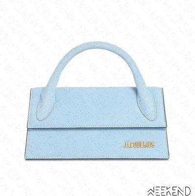 【WEEKEND】 JACQUEMUS Le Chiquito Long 手提包 肩背包 天藍色