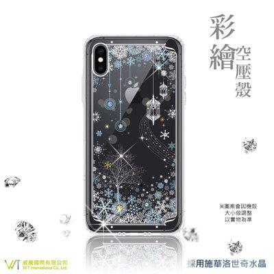 【WT 威騰國際】WT® Apple iPhone XS Max 施華洛世奇水晶 彩繪空壓殼 軟殼 -【映雪】