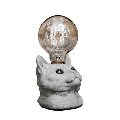 【曙muse】仰望貓咪水泥桌燈 美短 毛孩 夜燈 交換禮物 設計 造型 可愛 特色 創意  美國短毛貓
