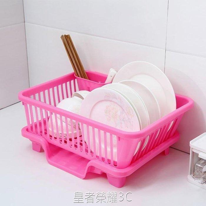 廚房碗筷收納盒瀝水架碗架家用塑料置碗櫃晾放架碗筷碟瀝碗收納箱YTL·大號