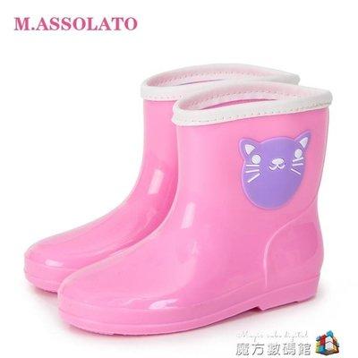 M 秋冬時尚膠鞋萌物雨靴男女童小孩水鞋防滑可愛兒童雨鞋