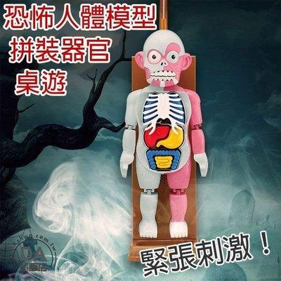恐怖人體模型 人體模型玩具 桌遊 器官 桌面遊戲 器官認知 骷髏 整人 玩具 教育 趣味 聚會 恐怖 拼裝 萬聖節