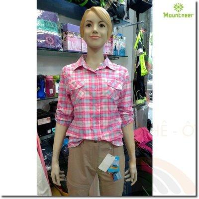 山林 Mountneer 31B02-34深桃紅 女款透氣吸濕排汗長袖襯衫 抗UV 彈性 透氣 喜樂屋戶外休閒