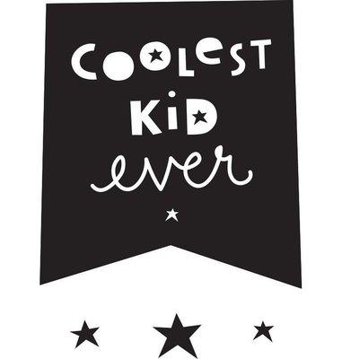 【現貨】QB選物❤荷蘭|a Little Lovely Company ❤ 酷黑壁貼: Coolest Kid Ever