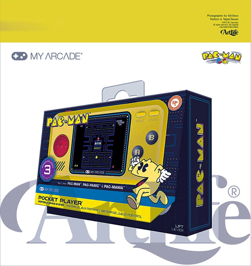 ArtLife @ dreamGEAR PAC-MAN GAME パックマンポケットプレーヤー 小精靈 掌上機