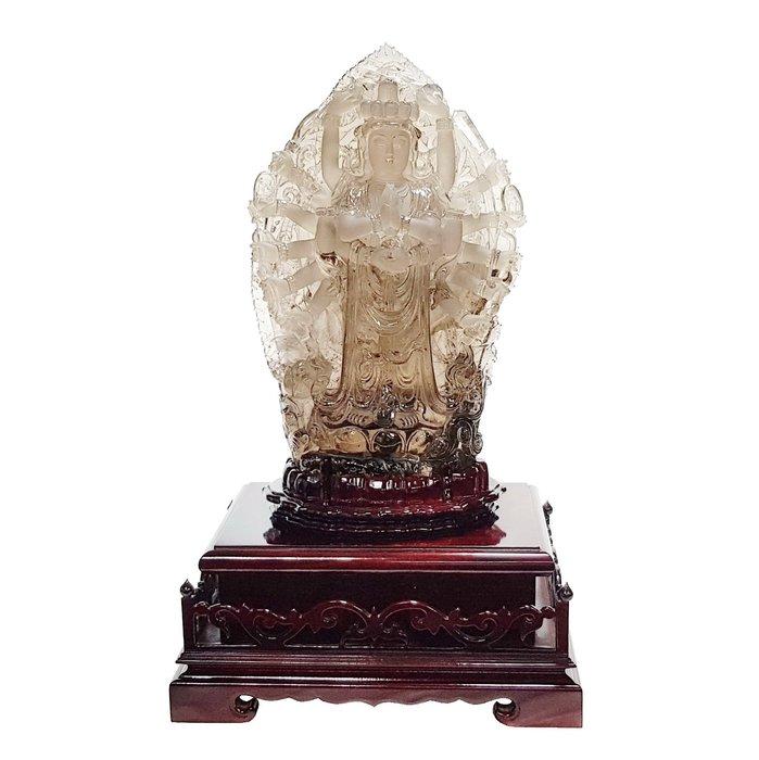 【喬尚拍賣】千手觀音水晶雕件.收藏級16.7公斤