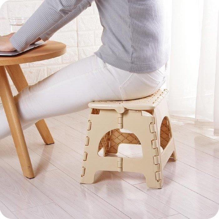 現貨/可折疊塑料凳子兒童小椅子成人便攜戶外折疊凳家用換鞋凳馬扎板凳40SP5RL/ 最低促銷價