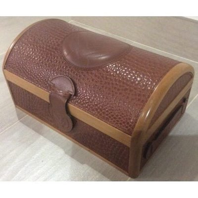 100%新 原裝 正版「Franck Muller」木 真蛇皮 錶盒 Geninue Original Snake Leather Wood Watch Box
