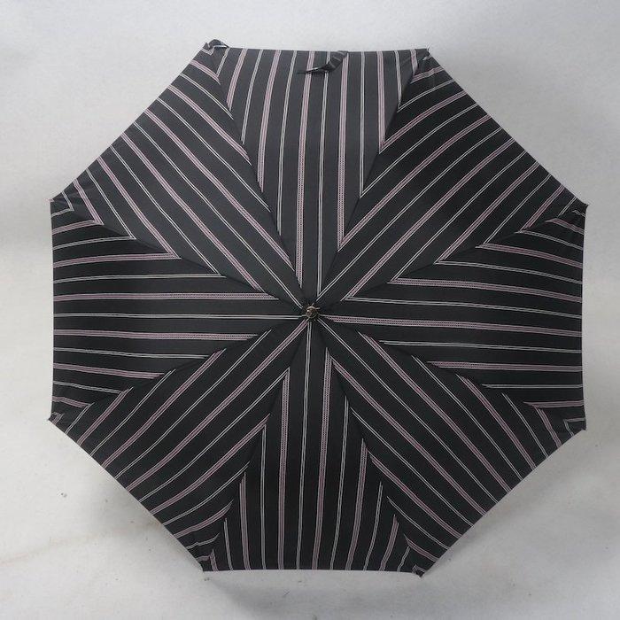 奇奇店-黑紫色都市女性條紋款皮革傘柄玻璃纖維傘骨女士晴雨傘#加固 #小清新 #晴雨兩用