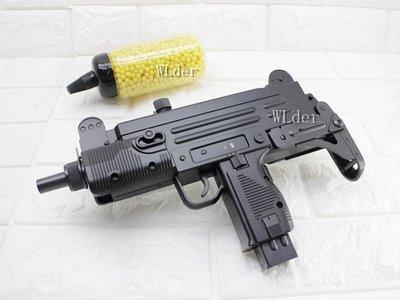 [01] UHC UZI 烏茲 電動槍 連發 送電池 + 0.12g BB彈 (BB槍BB彈玩具槍長槍短槍步槍衝鋒槍