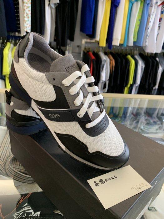 HUGO BOSS 雨果博斯 本季新款 時尚 型男穿搭 簡約黑白配色 運動鞋 休閒鞋