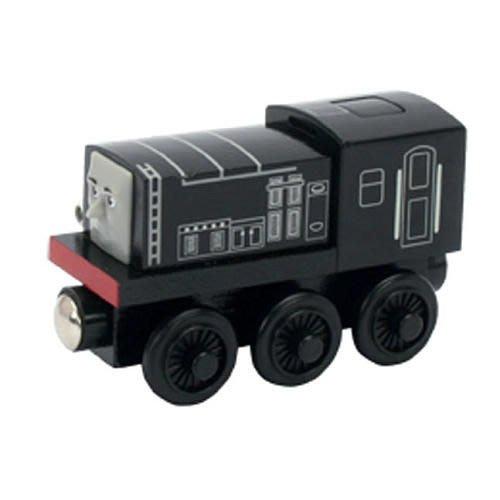 愛卡的玩具屋㊣ 正版 THOMAS 湯瑪士和他的朋友@ 磁性 原木小火車頭 @-taiking diesel 會說話迪索