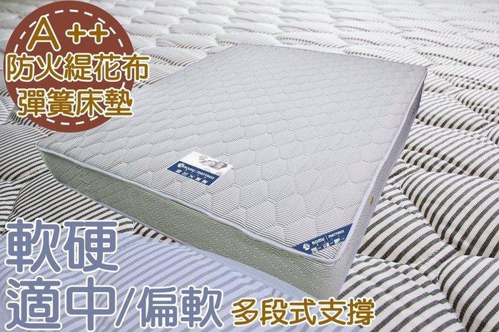 【DH】商品編號 R102商品名稱A++頂級飯店御用防火布面5尺雙人床墊,備有現貨可參觀。主要地區免運費