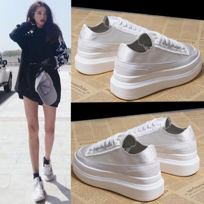 商品折扣中 女內增高鞋 百搭厚底小白鬆糕鞋休閒鞋