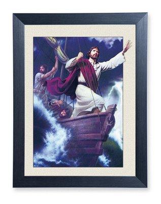 基督教 教會 ~5D立體光雕畫~耶穌平息風浪