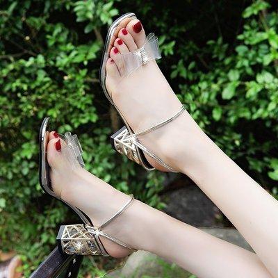 現貨/高跟涼鞋女室外中跟拖鞋女外穿時尚兩穿粗跟女鞋/海淘吧F56LO 促銷價