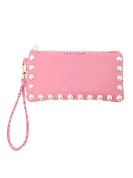 代購現貨 日本Maison de FLEUR 珍珠方形小包 手拿包