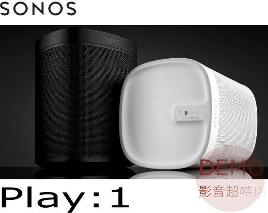 ㊑DEMO影音超特店㍿ SONOS Play:1  WiFi 無線智慧音響 喇叭 (1支)