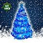 心可樂活 台製6呎豪華版晶透藍系聖誕樹(銀藍...