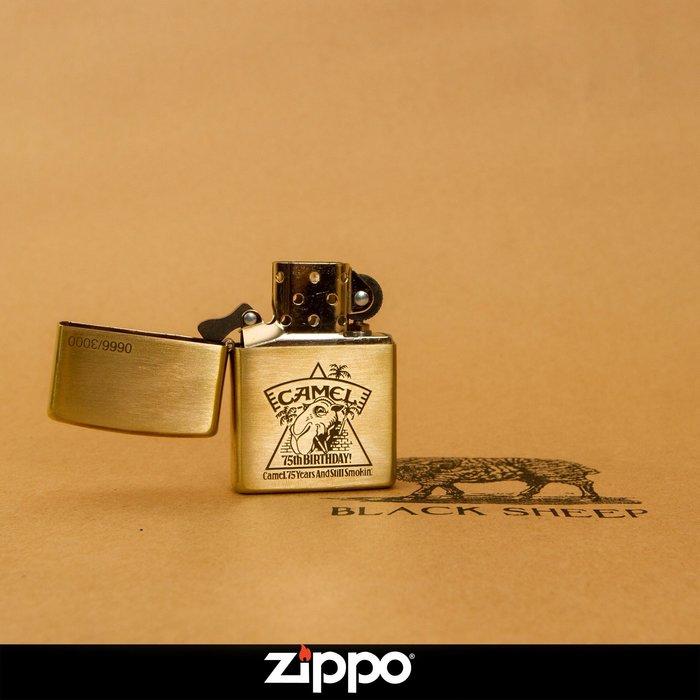 Zippo 打火機 Camel駱駝 75週年紀念款 經典復刻版  黃銅機身 防風 煤油  經典小物 美國原廠 正品