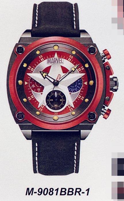 [靚錶閣]正品漫威MARVEL 美國隊長 M-9081BBR-3紅黑款
