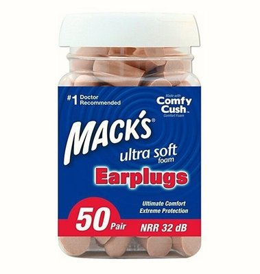 【格林窩Green World】美國正貨-Mack's 耳塞/50對-限量特價