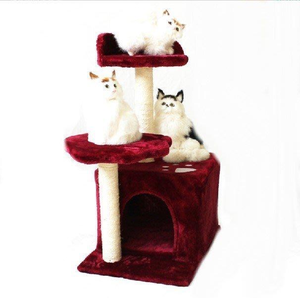 方形貓窩加貓跳臺 貓爬架貓玩具 貓抓柱貓樹 貓抓板 環保材質 出口檢驗 貓咪喜歡
