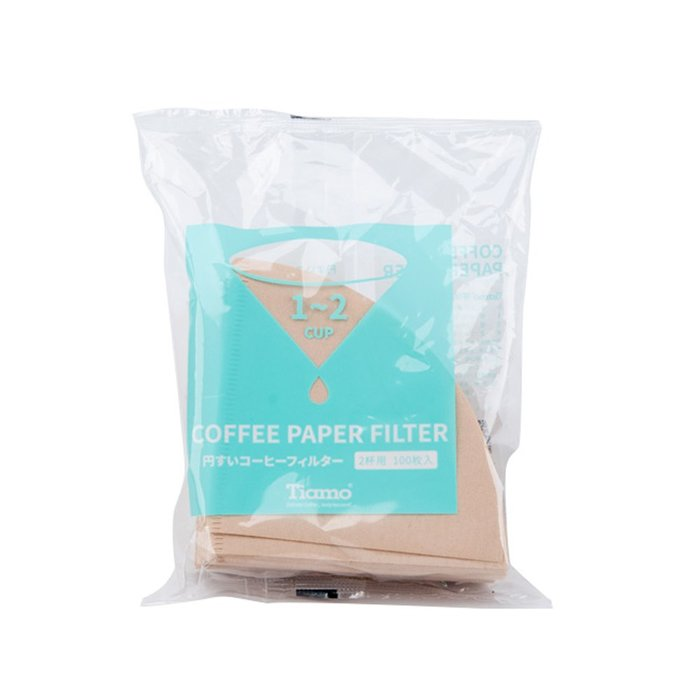 Tiamo堤亞摩咖啡生活館【HG5596】 V01 漂白圓錐咖啡濾紙 1-2人 100入日本製*2包(HG5596)