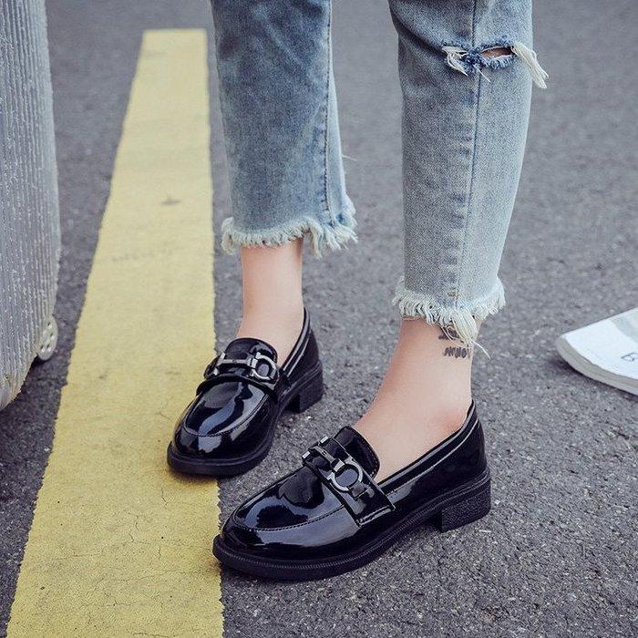 ☜男神閣☞2018新款單鞋女正韓百搭小皮鞋英倫風春季鞋學生原宿軟妹女鞋