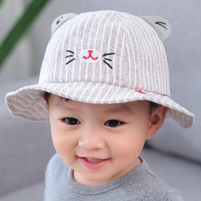 兒童帽 子春秋 1-3 歲潮寶 寶漁夫 帽遮陽 帽男女 童夏季 防曬涼 帽潮盆 帽 帽子 防曬帽  兒童帽子 太陽帽 正韓