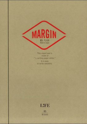 =小品雅集= 日本 LIFE MARGIN REPORT B5 上掀式筆記本(空白)R761