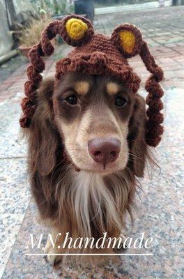 手作寵物帽 創意手作帽 寵物帽 毛線帽 寵物