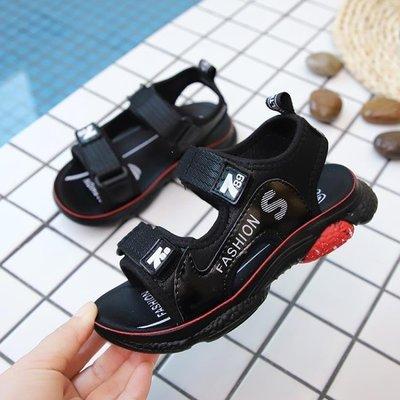 日和生活館 男童涼鞋2019新款夏季小童沙灘鞋中大童皮涼鞋兒童涼鞋男軟底童鞋 S686
