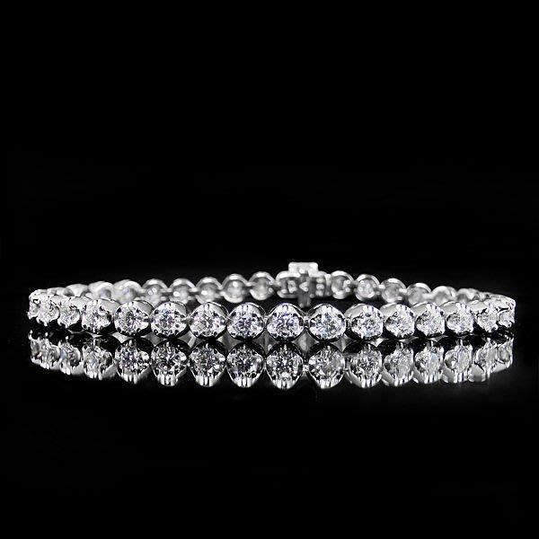 【LOVES鑽石批發】天然鑽石手鍊-5分花苞款-2.30ct-D color-H&A-18K金-另有鉑金/白金 另售GIA鑽石 LOVES DIAMOND