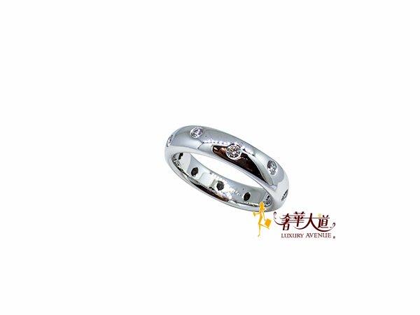*奢華大道國際精品*【J0641】Tiffany&Co 蒂芬尼 The Etoile系列鉑金鑲鑽戒指#8號