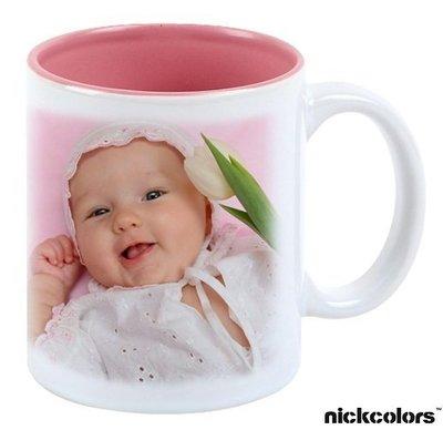 尼克卡樂斯家居精品~熱轉印內彩粉紅陶瓷馬克杯(禮盒裝)  婚禮小物  結婚禮品 畢業禮 教師禮 生日禮 情人節