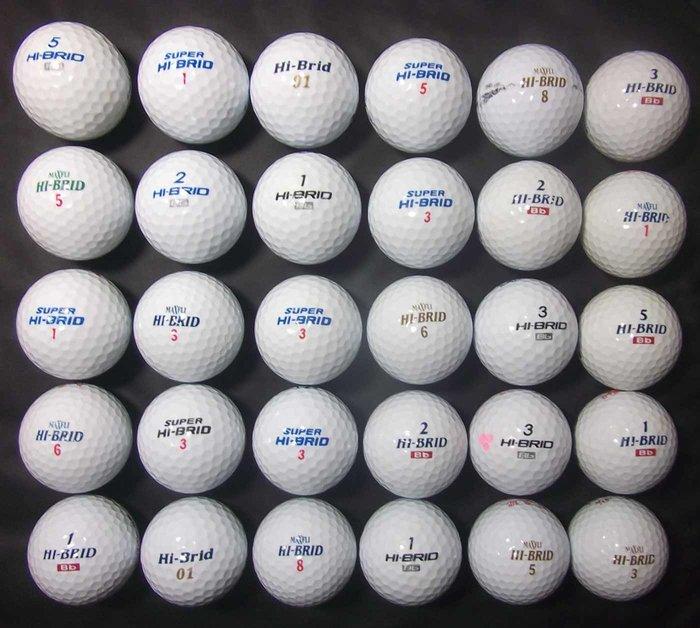 *新威全高爾夫**~特選8~9成新(MAXFLI HI-BRID Bb )綜合球(共47顆)