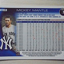 Topps Chrome Mickey Mantle