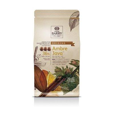CACAO BARRY 可可巴芮 安珀爪哇 牛奶調溫 巧克力粒 36% - 5kg 穀華記食品原料