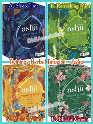 英國Twinings of London Asha Herbal Infusions 有機茶包 (一盒18包)