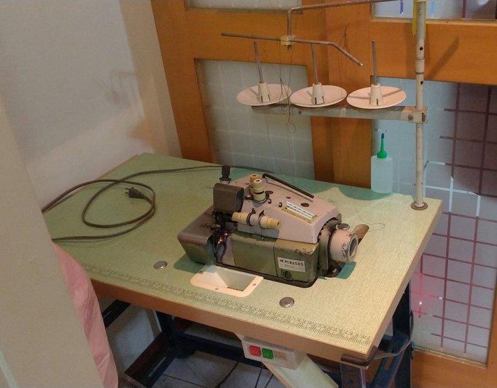 工業縫紉機、日本飛馬拷克車、拷布邊 車密細邊 布邊河葉邊一流  台桌型
