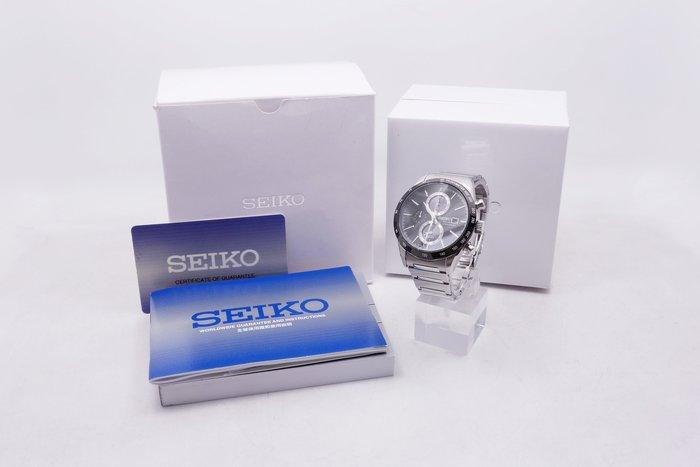 【台中青蘋果】精工錶 SEIKO Spirit 極簡美學太陽能計時腕錶 V172-0AP0A 二手 手錶 #16013