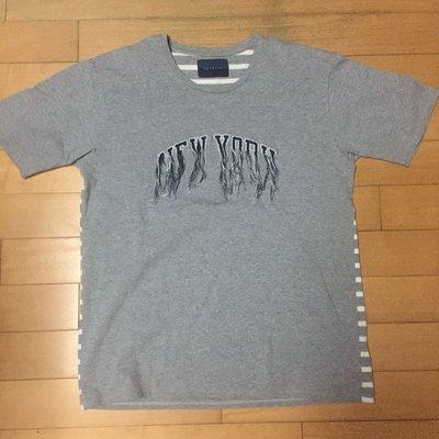 當紅日本新銳品牌Doublet經典 embroidered NEW YORK detail T-shirt