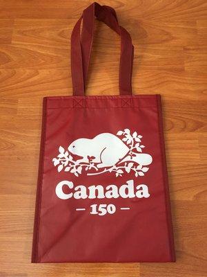 ~☆.•°莎莎~*~☆~~加拿大ROOTS 150週年慶環保袋~現貨(中)