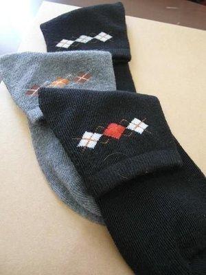 【群益襪子工廠】純棉格子短襪-格子襪、...