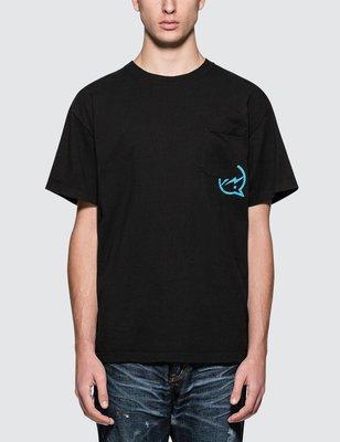 Denim by vanquish & fragment 閃電短T 黑色T恤 T-shirt 素tee 黑T 藤原浩 日本製 短袖