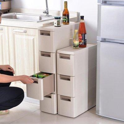 收納櫃 百露夾縫收納櫃塑料行動儲物櫃整理櫃組合櫃抽屜式夾縫櫃縫隙窄櫃 MKS克萊爾