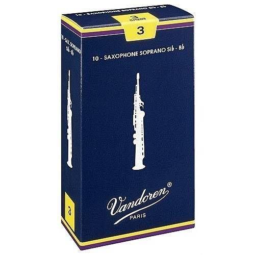 §唐川音樂§【Vandoren Traditional Soprano Reeds 薩克斯風 高音 傳統藍盒 竹片 10片裝】(法國)