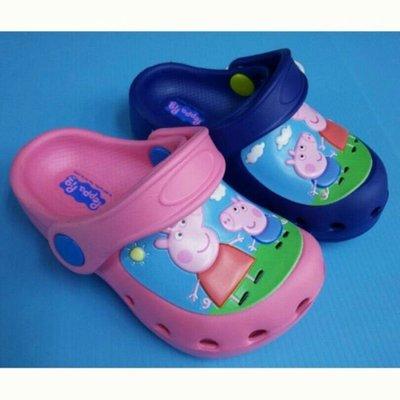 台灣製 peppa pig粉紅豬小妹 喬治豬 佩佩豬輕量防水布希鞋 花園鞋 園丁鞋 洞洞鞋 雨鞋